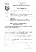 Espace Sportif – proces verbal modification reglement interieur