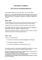 Espace Sportif – reglement interieur
